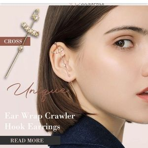Pretty cross Ear wrap